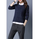 Cable Knit Long Sleeve Sweater deal