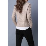 cheap Cable Knit Long Sleeve Sweater