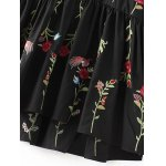 Drop Waist Floral Embroidered Dress for sale