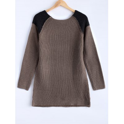 Women's Chic High-Low Hit Color Sweater
