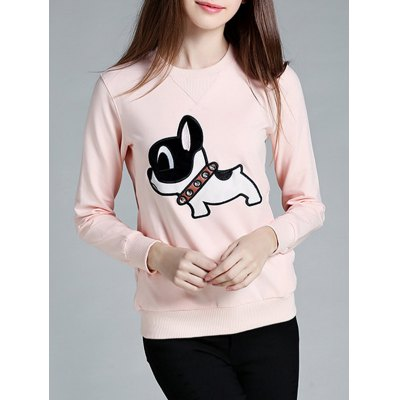Poppy Front Pocket Round Collar Sweatshirt