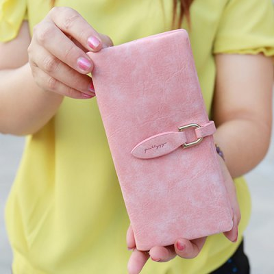 Leisure Metal and PU Leather Design Wallet For WomenWomens Wallets<br>Leisure Metal and PU Leather Design Wallet For Women<br><br>Wallets Type: Clutch Wallets<br>Gender: For Women<br>Style: Casual<br>Closure Type: Zipper&amp;Hasp<br>Pattern Type: Solid<br>Main Material: PU<br>Length: 18.5CM<br>Width: 2CM<br>Height: 9.5CM<br>Weight: 0.124kg<br>Package Contents: 1 x Wallet