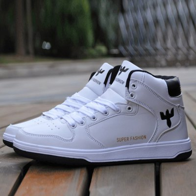 Stylish Colour Splicing and Tie Up Design Casual Shoes For Men