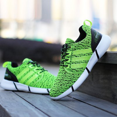 Casual Lace-Up and Stripe Design Athletic Shoes For Men