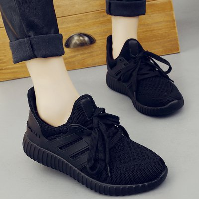 Casual Mesh and Solid Color Design Sneakers For Women