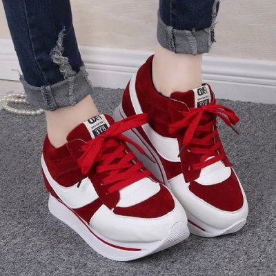 Stylish Splicing and Platform Design Sneakers For Women