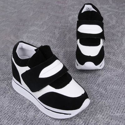 Trendy Color Block and Platform Design Athletic Shoes For Women