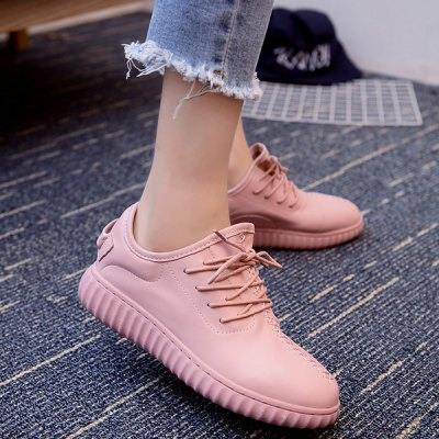 Casual Tie Up and Stitching Design Athletic Shoes For Women