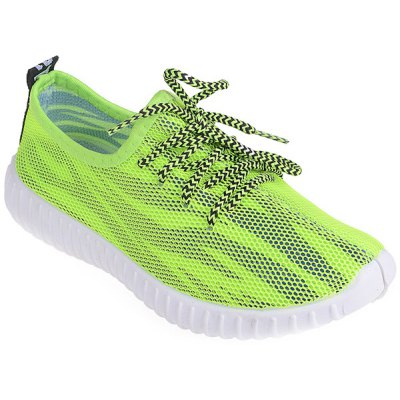Trendy Breathable and Colour Splicing Design Athletic Shoes For Women
