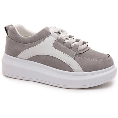 Suede Design Athletic Shoes For Women
