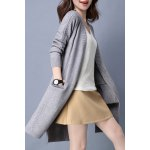 Cable Knit Slit High Low Cardigan deal
