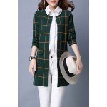 Plaid Long Sleeve Straight Cardigan deal