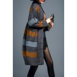 cheap Stripe Long Sleeve Cardigan