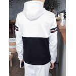 Plus Size Hooded 3D Letter Print Long Sleeve Sport Suit ( Hoodie + Pants ) For Men for sale