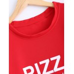 Active Pizza Letter Loose-Fitting Sweatshirt for sale