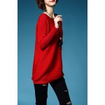 Solid Color Long Sleeve Long Sweater deal