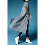 cheap Solid Color Short Sleeve Long Cardigan