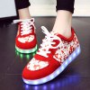 Trendy Lighted and Print Design Sneakers For Women deal