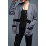 Stripe Loose Long Sleeve Cardigan