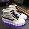 Stylish Led Luminous and High Top Design Sneakers For Women photo