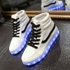 Stylish Led Luminous and High Top Design Sneakers For Women for sale