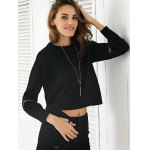 Stylish Round Neck Zipper Design Women's Sweater deal