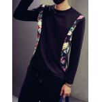 Floral Print Insert Long Sleeve Tee deal
