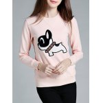 Stylish Poppy Pattern Front Pocket Round Collar Sweatshirt