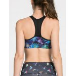 Sporty Women's Tree Print Hollow Out Bra for sale