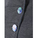 best Colorful Button Pocket Hooded Coat