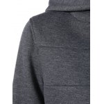 Colorful Button Pocket Hooded Coat for sale