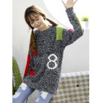 Trendy Color Block Spliced Loose-Fitting Women's Sweater deal