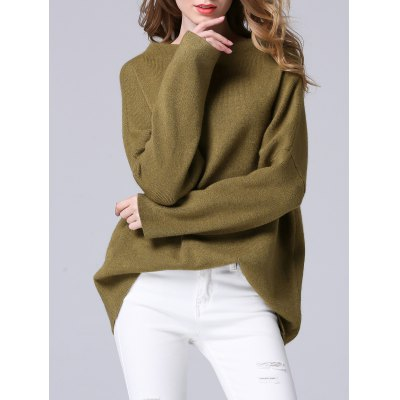 Pure Color Loose-Fitted Chunky Sweater