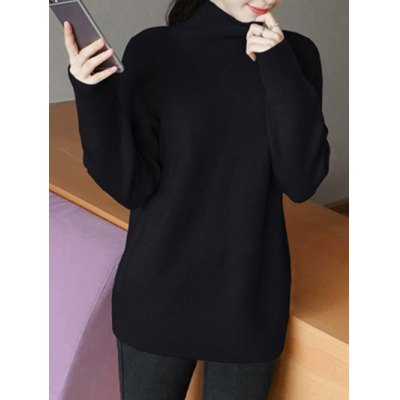 Turtleneck Neck Candy Color Sweater