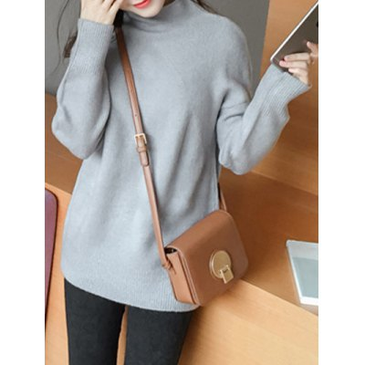 Sweet High Neck Candy Color Sweater