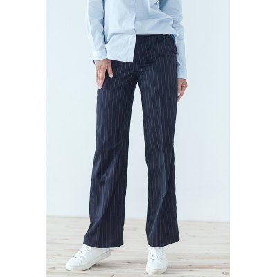 Straight Loose Striped Pants