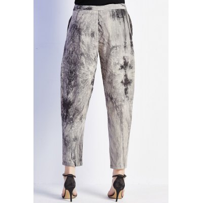 Patched Tie-Dyed Pants