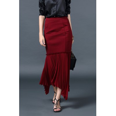 Ruched Maxi Trumpet Skirt