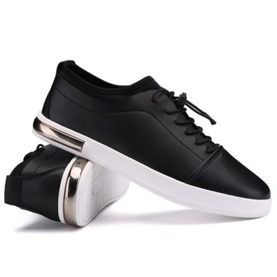 Trendy Elastic and Solid Color Design Casual Shoes For Men