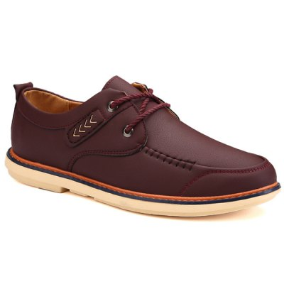 Trendy Stitches and Lace-Up Design Casual Shoes For Men