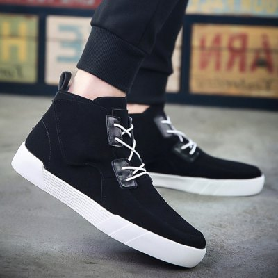 Fashionable Suede and High Top Design Casual Shoes For Men
