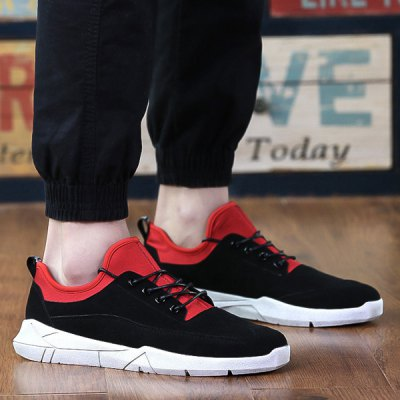 Fashionable Splicing and Tie Up Design Casual Shoes For Men