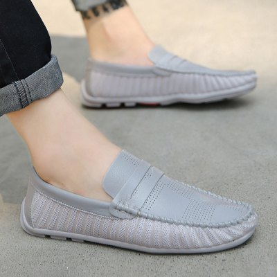 Simple Style Breathable and Stitching Design Casual Shoes For Men