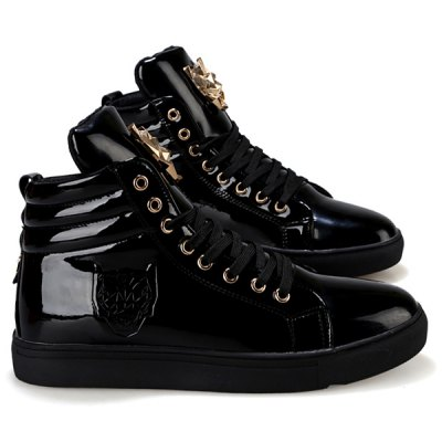 Stylish High Top and Metal Design Casual Shoes For Men
