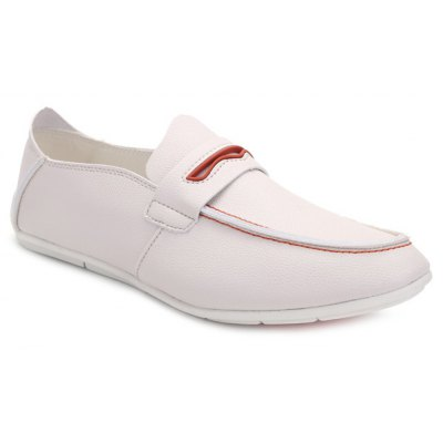 Concise Colour Splicing and PU Leather Design Casual Shoes For Men