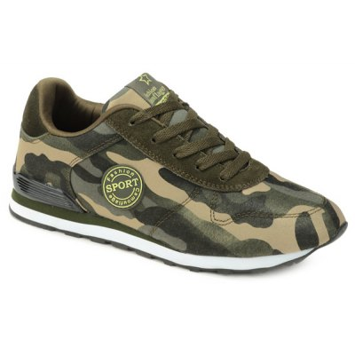 Camouflage Pattern Design Athletic Shoes For Men