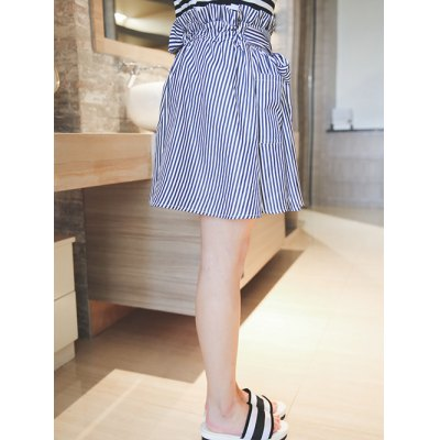 Plus Size Sweet Tie-Front Striped SkirtPlus Size Bottoms<br>Plus Size Sweet Tie-Front Striped Skirt<br><br>Material: Polyester<br>Length: Mini<br>Silhouette: A-Line<br>Pattern Type: Striped<br>Embellishment: Pockets<br>Season: Fall,Spring,Summer<br>With Belt: No<br>Weight: 0.225kg<br>Package Contents: 1 x Skirt