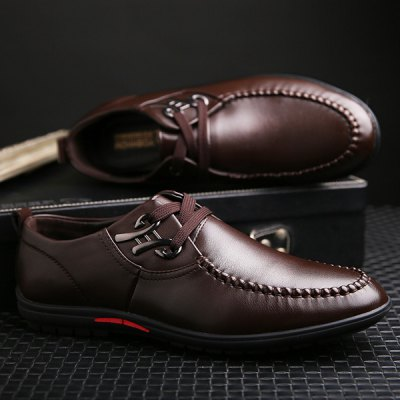 Stylish Metal and Dark Color Design Casual Shoes For Men