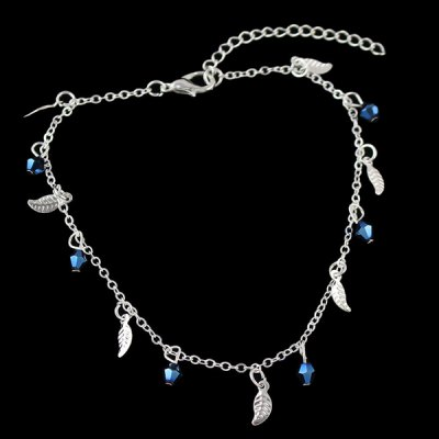 Leaf Geometric Beads Charm Anklet