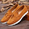 Simple Suede and Tassels Design Casual Shoes For Men deal